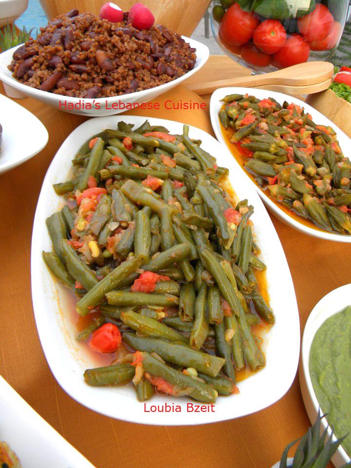 Loubia Bzeit (Lebanese Vegetarian Green Beans)