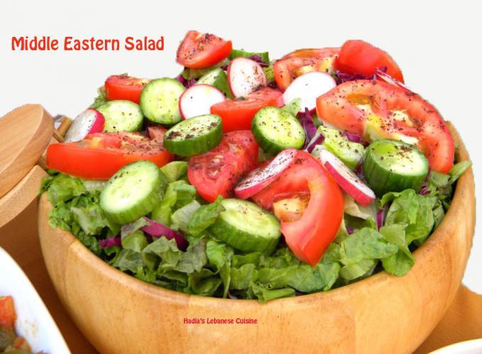Middle Eastern Salad | Hadias Lebanese Cuisine