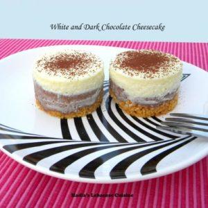 White and Dark Chocolate Cheesecake