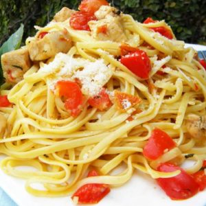 Linguine with Anchovies and Sun-dried Tomatoes