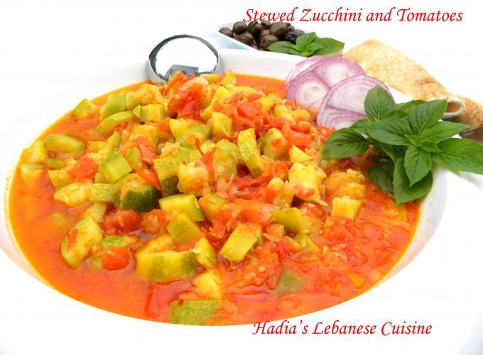 Stewed Zucchini and Tomatoes(Koussa Wbanadoura)