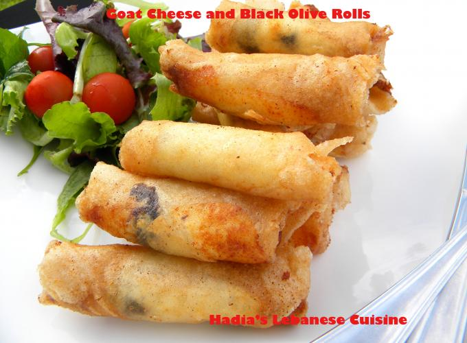 Goat Cheese and Black Olive Rolls