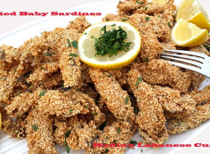 Fried Baby Sardine with Sesame Crust