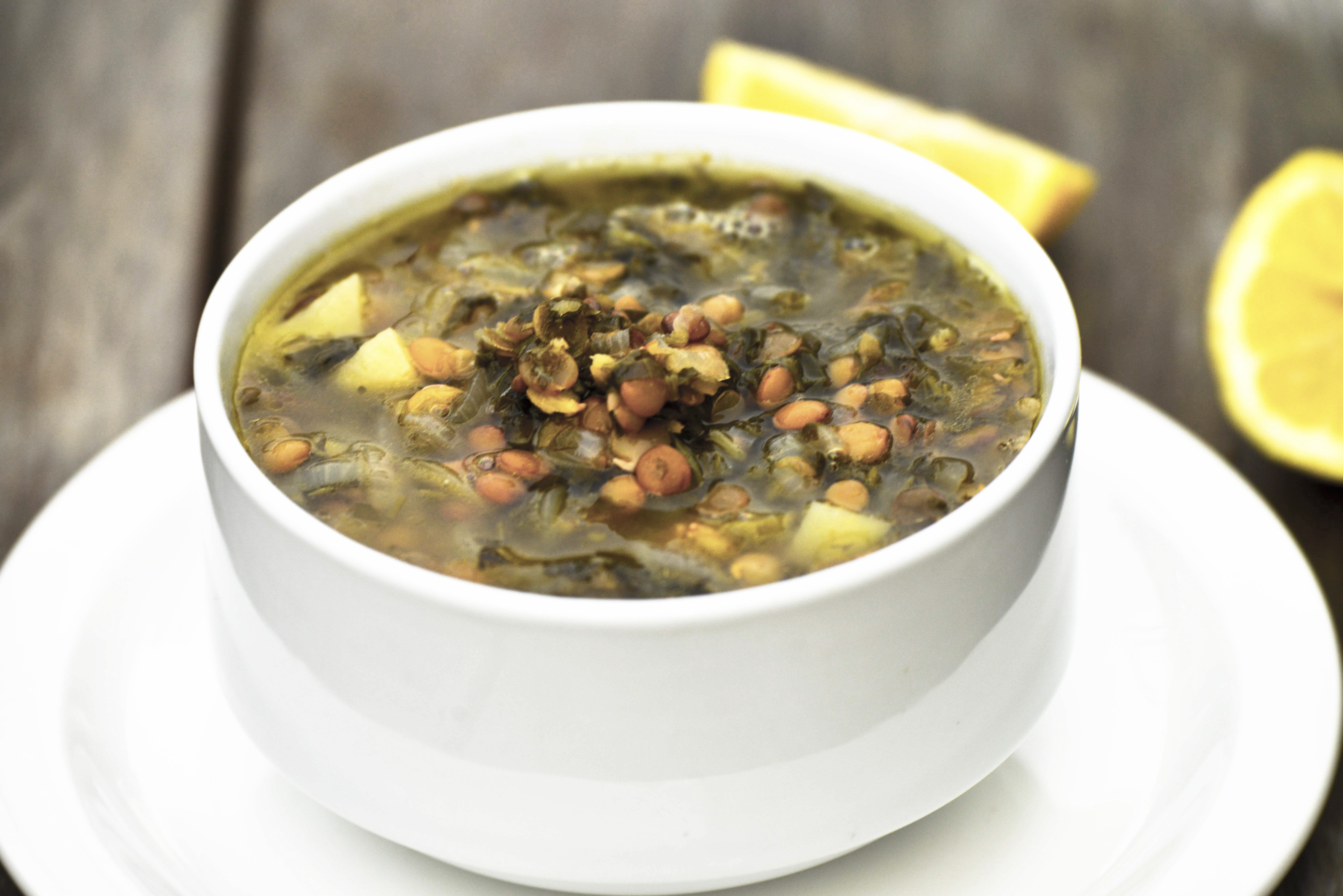 Sour Lentil Soup (Adas Bhamod).  One of my absolute favorite soups and the ultimate taste of winter and is sure to please on any cold evening.