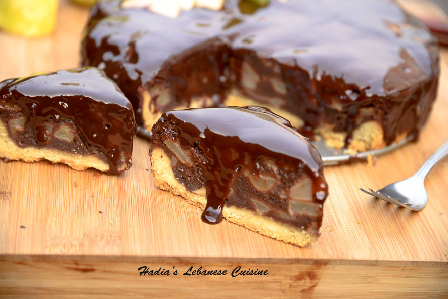 Chocolate and Pear Brownie-Pie