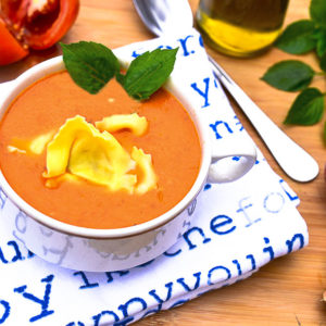 Roasted Tomates and Tortellini Soup