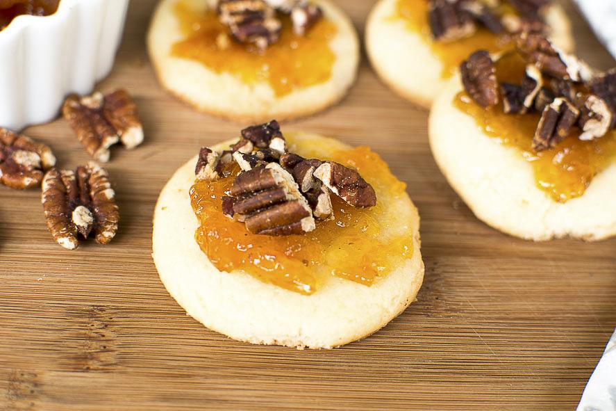 Jam and Pecan Cookies