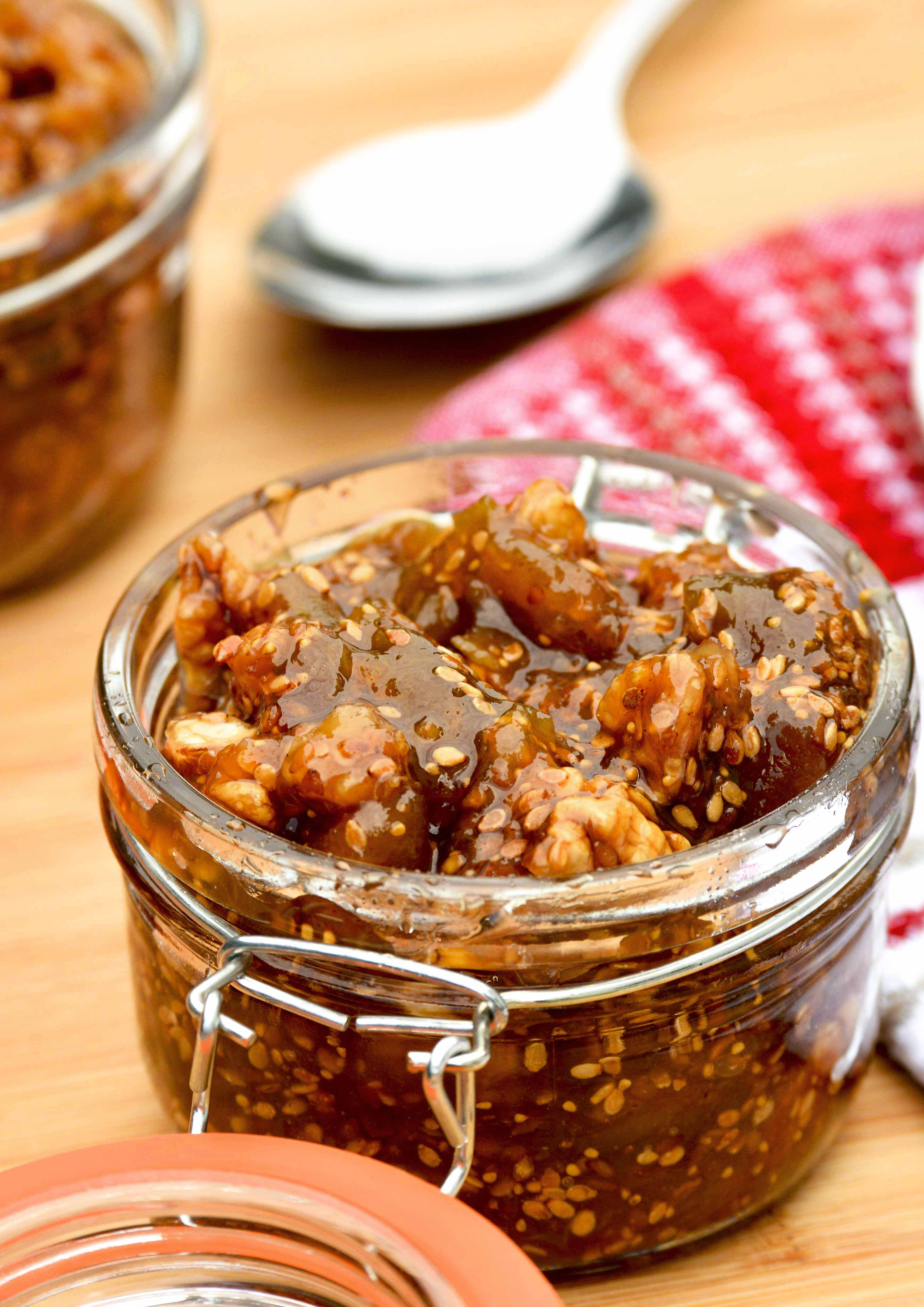 Lebanese Dried Fig Jam.    Once you try it, you will never be satisfied with the commercial fig jam