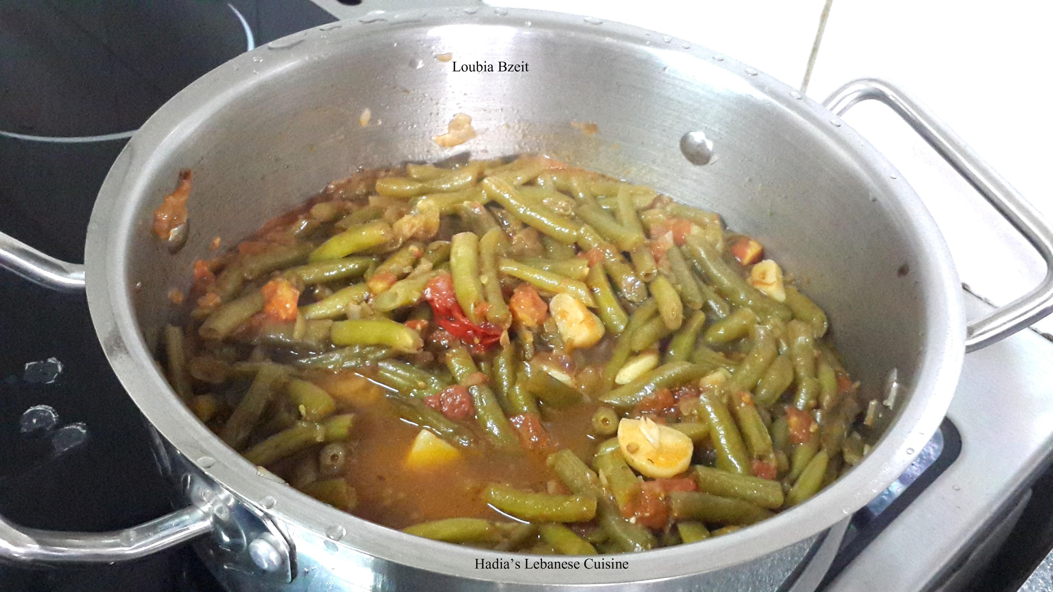 Loubia bzeit lebanese vegetarian green beans hadias - Green vegetarian cuisine ...