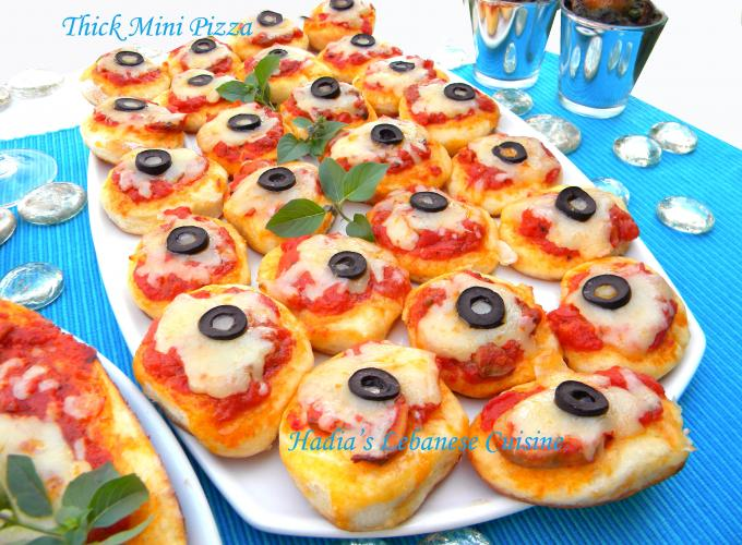 Thick Mini Pizza Hadias Lebanese Cuisine